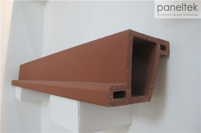 Red Terracotta Louvers Exterior Wall Cladding For Sunscreen Facade Decoration