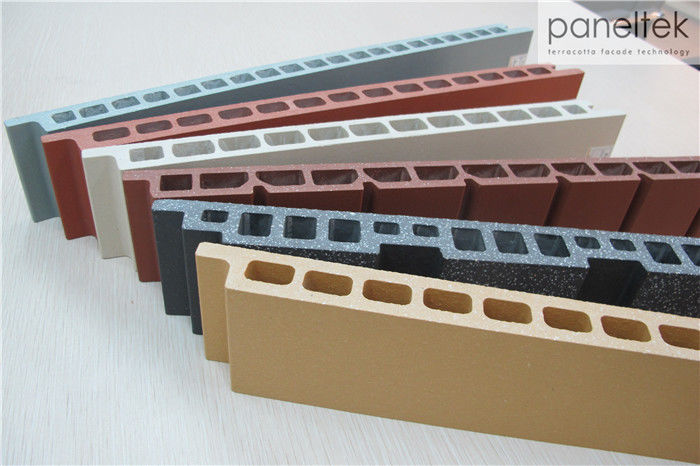 30mm Exterior Wall Finishing Materials , Various Shapes Building Facade Panels