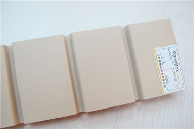 Rainscreen Facade Terracotta Wall Tiles Beige Ceramic Panels With UV Resistance