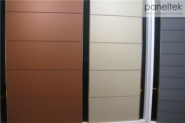 White Ceramic Facade Exterior Building Cladding Panels With Thermal Insulation