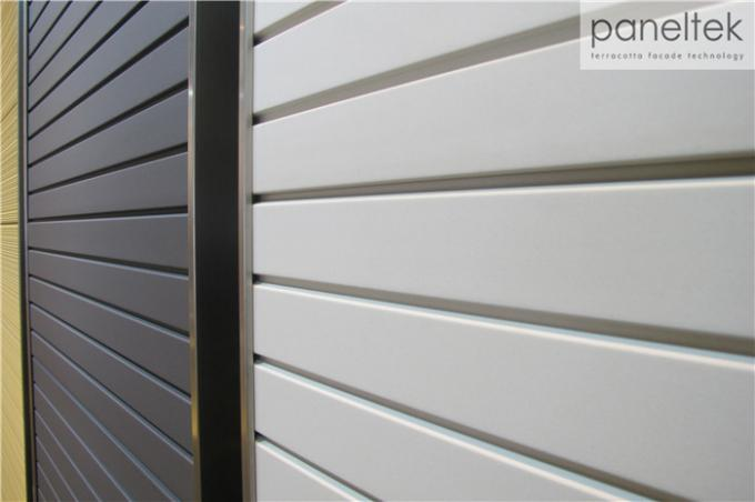Exterior Wall Cladding Services : Ventilated facade exterior wall cladding panels grooved