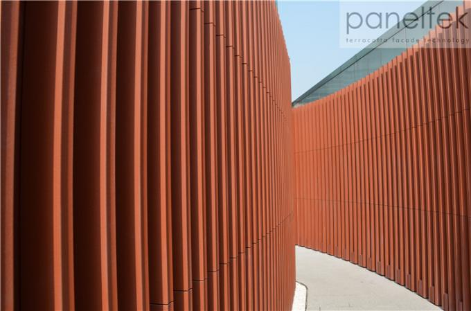 Sunshade Terracotta Louvers For Building Facade Decoration Exterior And Interior